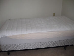 SINGLE MATTRESS, BOX SPRING AND BED FRAME