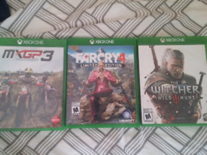 XB1 Witcher 3, Far Cry 4, MXGP 3