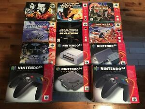 N64 SYSTEM AND GAMES INCLUDING BOXES AND MANUALS MUST SEE