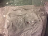 Job lot of plain white t-shirts