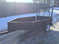 5x8 V Nose Strong Box utility trailer with ramp. No rust.