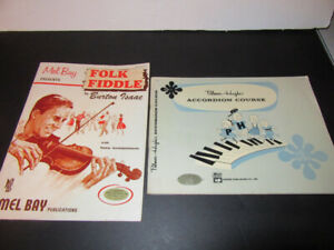 2 MUSIC BOOKS = 1 FIDDLE & 1 ACCORDION