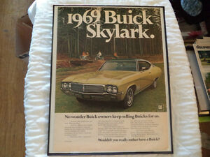 OLD BUICK  CLASSIC CAR FRAMED AD Windsor Region Ontario image 1