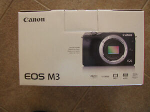 Canon M3 Camera. Body only.  Brand New Still in Box. No Tax