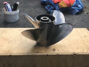 """Stainless Steel """"Shooter """" propeller for a Boat"""