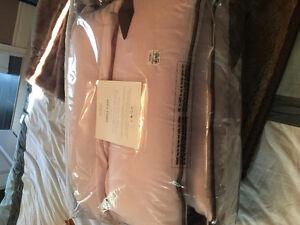 Brand New Restoration Hardware pink plush crib bumper
