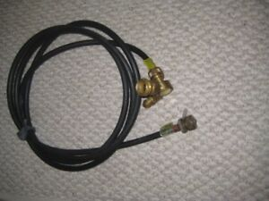 12 Ft Propane Hose with Brass Fittings For RV BBQ s