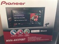 Pioneer double din car stereo Bluetooth aux touch screen 6.2 inch