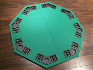 USED - Poker and Blackjack Reversible Table Top