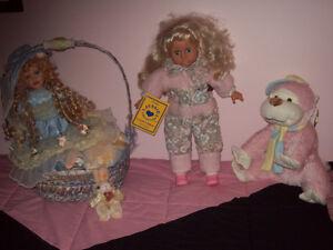 Lot de 3 poupées Vintage dont Jessie et autres