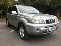 2004 NISSAN X-TRAIL SVE 2.2 DIESEL SILVER WITH FULL BLACK LEATHER INTERIOR