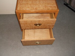 Knight Stand Two Drawer Solid Wood