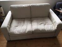 Cream Double Sofa Bed
