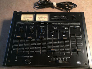 Vintage Equipment Realistic Stereo Mixing Console + Cabinet