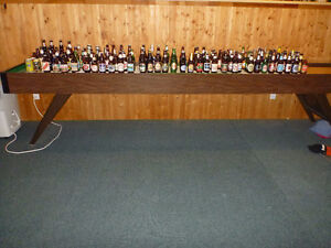 Beer Bottle Collection -- wide variety of bottles + four cans
