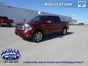 2013 Ford F-150 Limited    - Red Leather Bucket Seats - Navigati
