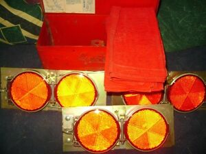 ANTIQUE ROAD SIDE  REFLECTORS WITH FLAGS