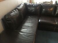 Sectional Couch (Dark Brown/Black)