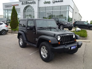 2011 Jeep Wrangler Sport 4x4 with 3 piece hardtop, clean!