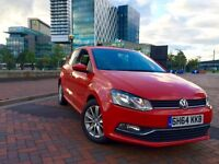 VOLKSWAGEN POLO 1.0 2014 (64) BLUEMOTION not CORSA FIEST IBIZA CLIO YARIA KA SMART