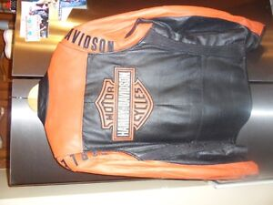 mens leather coat large