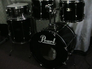 "5Pce*PEARL""Export""Pearl's Flagship Pro.Drum kit*TripleBlk*Mint! Windsor Region Ontario image 7"