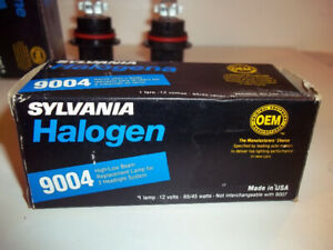 New Sylvania 9004 Halogen bulb for Headlights. 65/45 Watts.