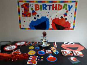 Sesame Street Elmo 1st Birthday Decorations