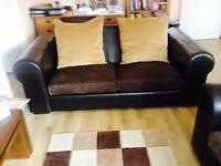2 seater leather sofa immaculate condition
