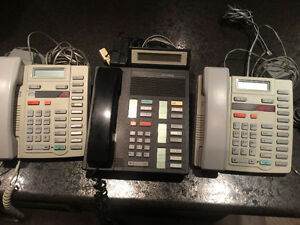 Office Nortel Meridian 3 phones plus head set.