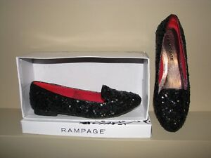 Rampage Women's Black Sequins Shoes - Size 8.5M - Brand New.