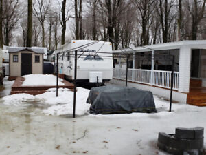 roulotte salem 32 pied camping mon repos