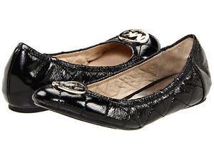 michael kors fulton classic quilted mk logo sexy ballerina flats. Black Bedroom Furniture Sets. Home Design Ideas