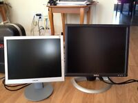 Two monitors for sale Sony, Dell
