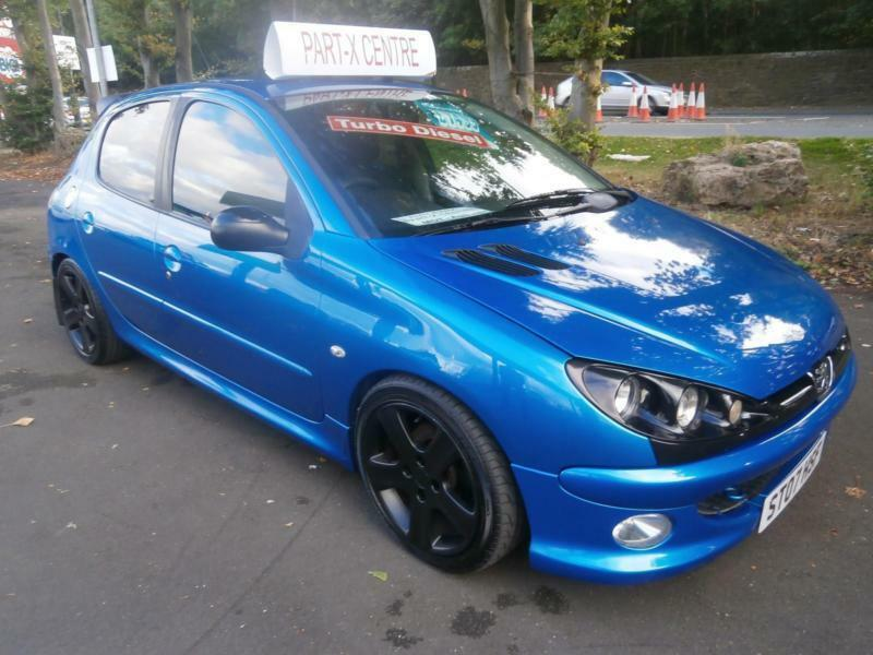 07 peugeot 206 1 4hdi 70 gti interior and alloys look in blue in newcastle tyne and wear. Black Bedroom Furniture Sets. Home Design Ideas