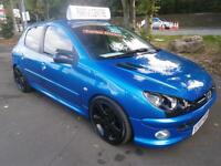 07 Peugeot 206 1.4HDi 70 GTI interior and alloys, Look in blue