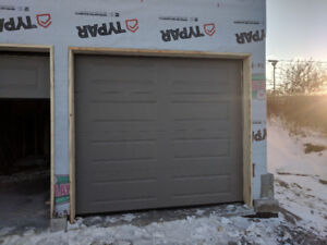 8x7 steel insulated garage door brand new