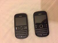 2 Nokia 201 mobile phones