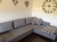 Big Grey Corner Sofa Bed