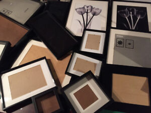 lot of 16 picture frames  -  various sizes