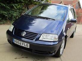 Volkswagen Sharan 1.9TDI PD 115bhp 2003 Sport Cambelt March 2013 FSH