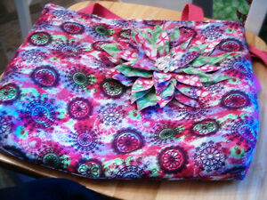 Quilted handbag purse custom designed and crafted
