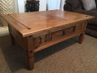 Large rustic solid pine coffee table with possible delivery