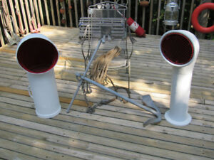 Nautical Antiques Collection - Old ship Cowl Vents and Anchor