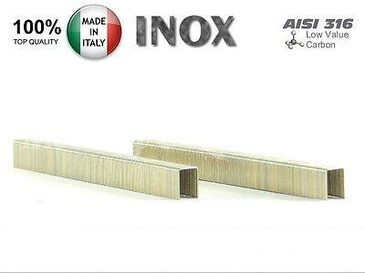 20.000 Punti Metallici Serie 80/4mm Inox AISI 316 - Graffe in acciaio inossidabi