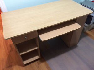 Maple finish, Desk w/shelves and chair
