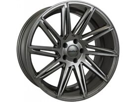 "New 18"" Calibre CC-A Gunmetal Alloy Wheels with Tyres for Mercedes Benz C Class (2007-2014)"