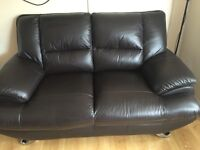 Harvey's leather 2 seater £150 ONO