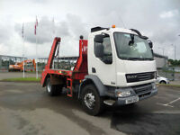 2010 (10) DAF TRUCKS FA LF55.220 TELESCOPIC SKIP LOADER