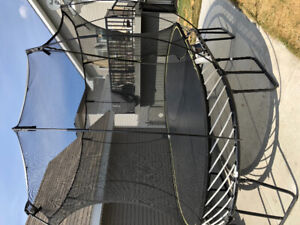 Spring free 8x13 large oval trampoline